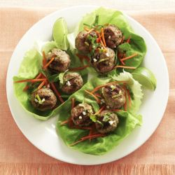 Meatball Lettuce Wrap